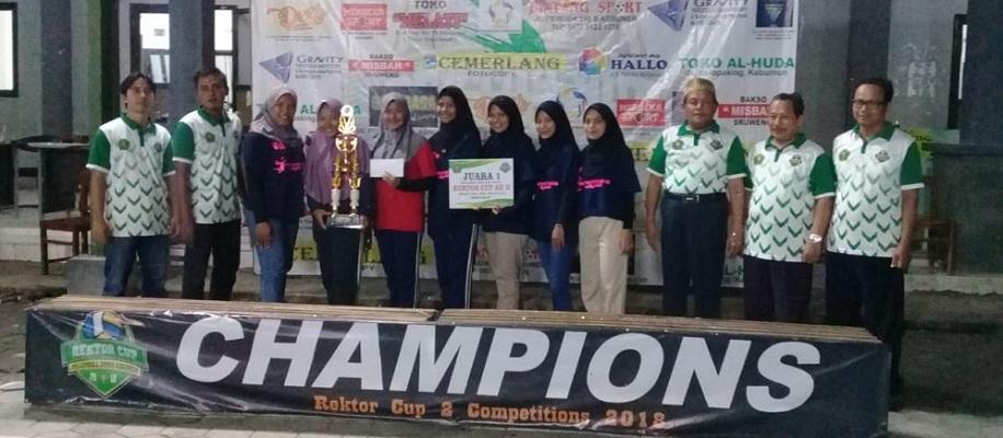 Tim Bola Voli Putri Berjaya di Rektor Cup Ke-II UMNU