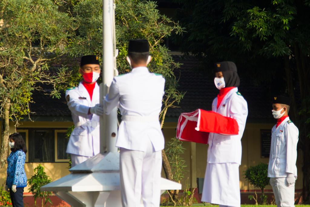 Peringatan Hari Kemerdekaan Ke 75 Republik Indonesia Di SMK N 1 Gombong