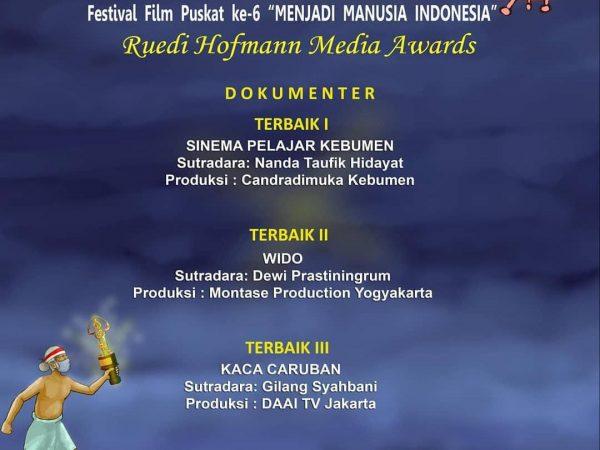 """TERBAIK 1 Film Dokumenter 2020 Tingkat Nasional - """"Festival Film Puskat ke 6"""""""