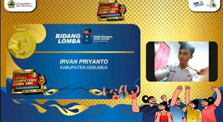 Juara 1 LKS Tingkat Provinsi Mata Lomba Plastik Die Engineering