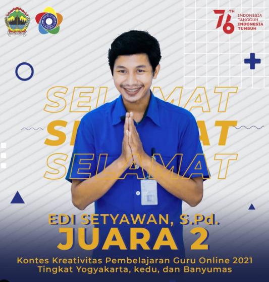 SMKN 1 Gombong Raih Juara II  Kontes Kreativitas Pembelajaran Guru Online 2021